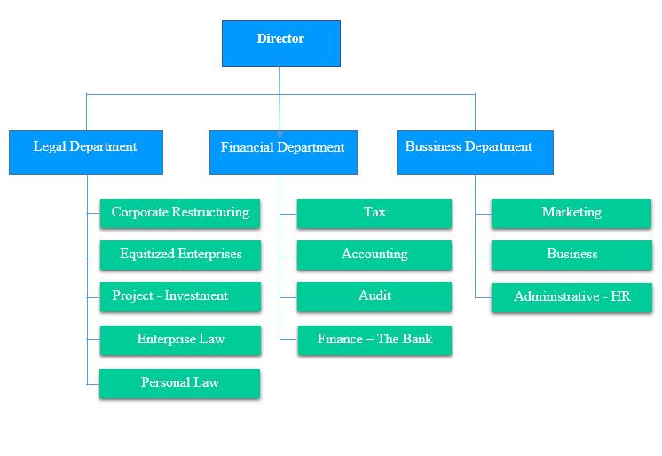 Organization chart of DHTax